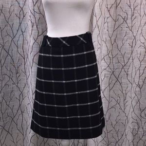 Talbots wool black skirt
